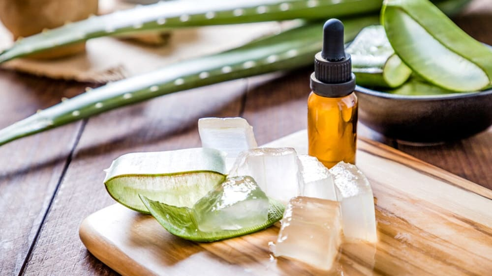 Aloe vera crystals for a skin care
